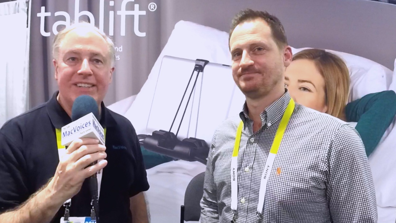 MacVoices #16055: CES - The tablift iPad Stand is Ideal For
