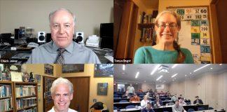 Chuck Joiner, Tonya Engst, Adam Engst, Long Island Macintosh User Group