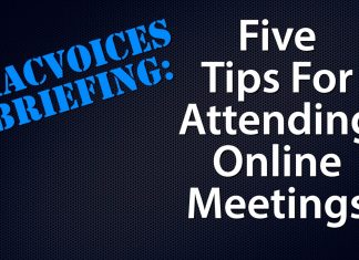 Five Tips For Attending Online Meetings