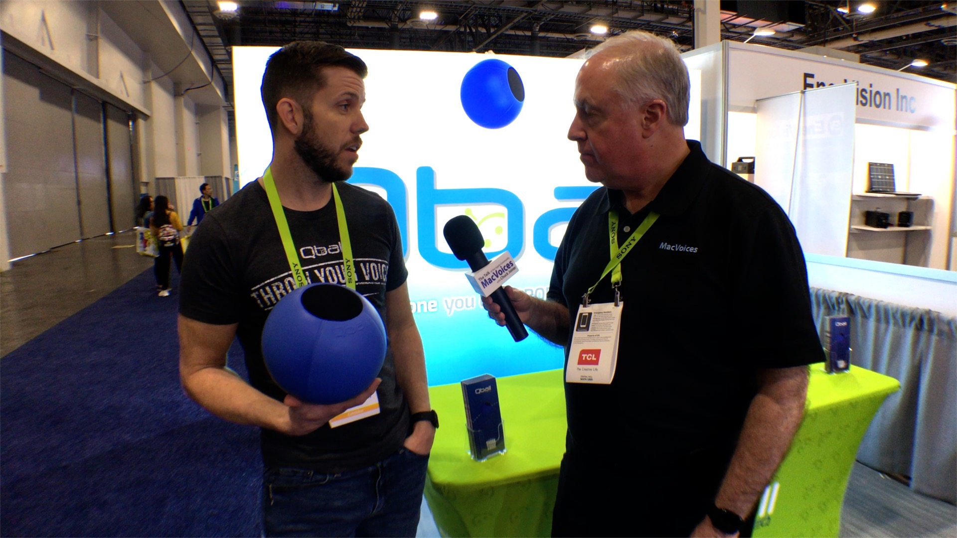 CES - PEEQ Shows Off Throwable Microphone, Qball