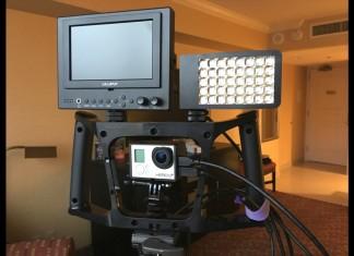 iOgrapher Go, GoPro, Rift Labs Kick, Lilliput Field Monitor, Manfrotto Standing Monopod