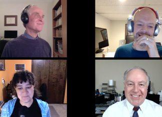 Dr. Robert Carter, Peter Cohen, Kelly Guimont, Chuck Joiner